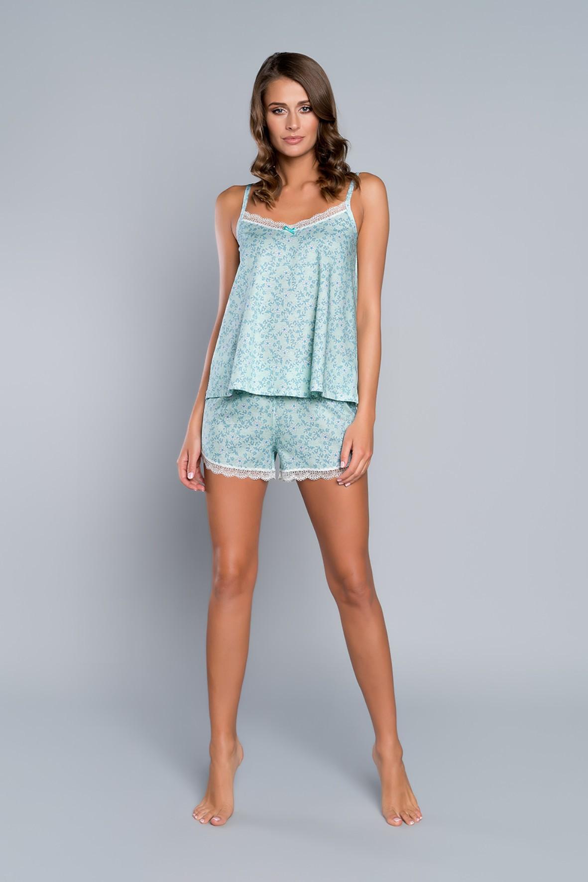 Dwuczęściowa piżama damska- koszulka na ramiączkach i szorty