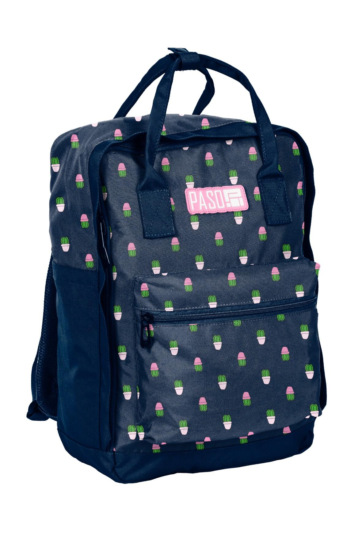 Plecak młodzieżowy aszkolny PASO w kaktusy