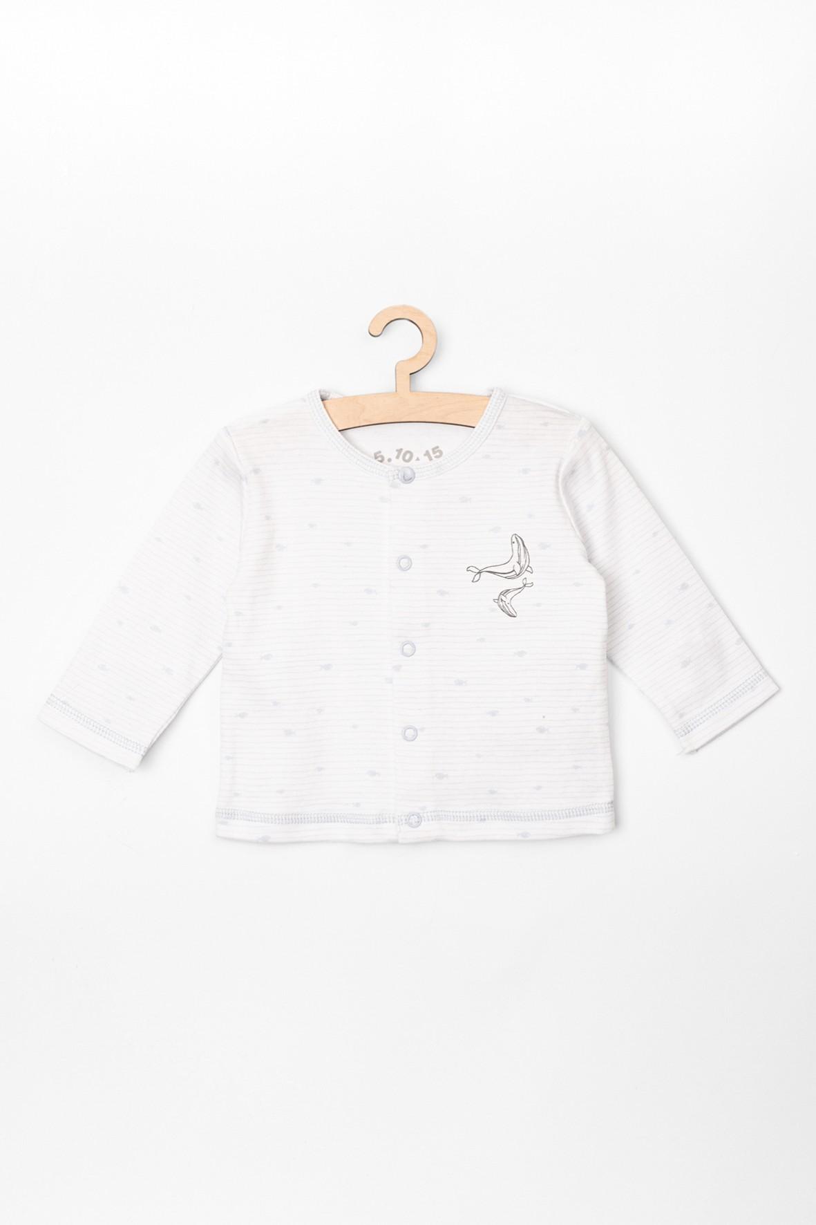 Kaftanik niemowlęcy biały- bawełniany