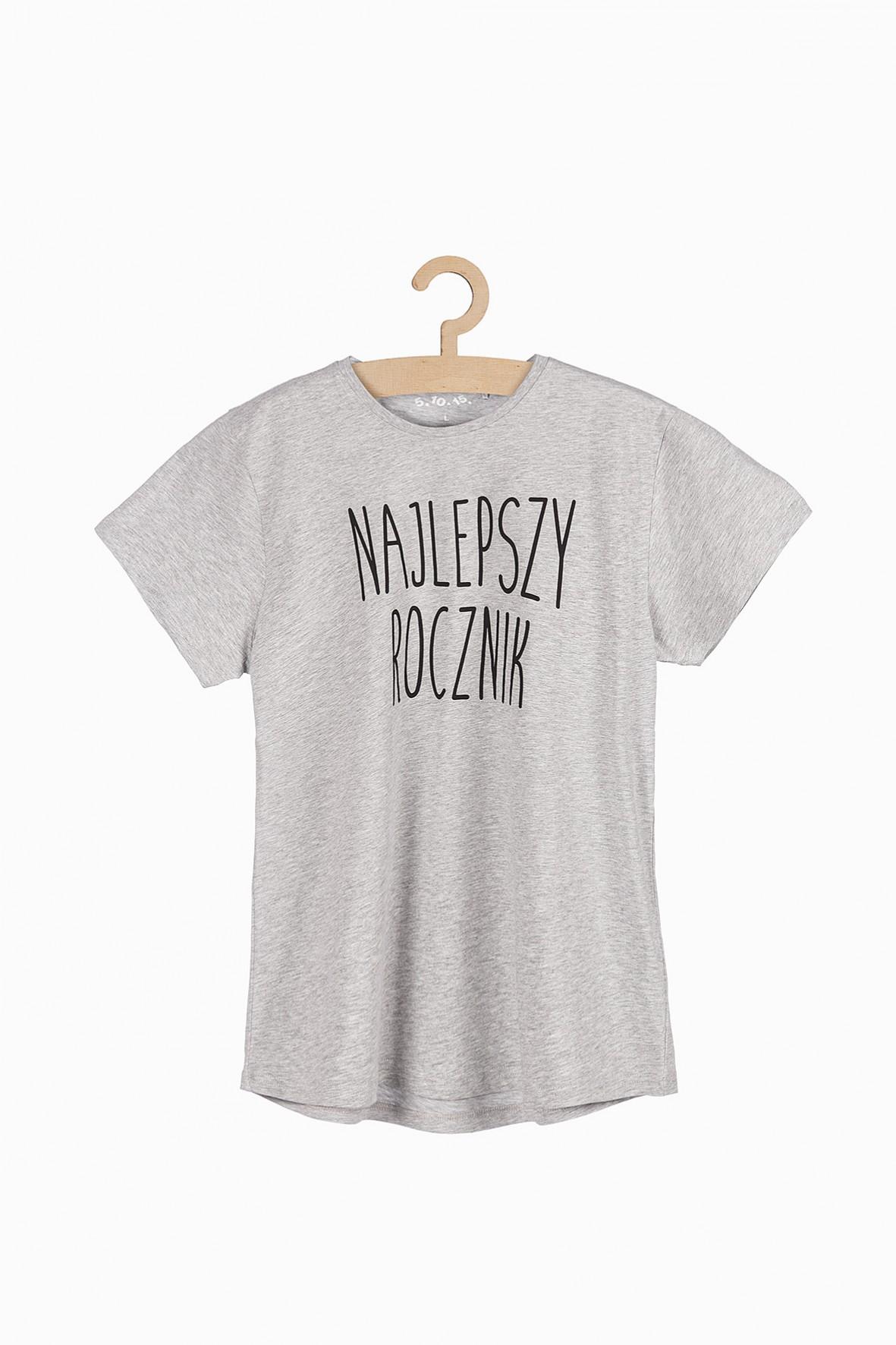 T-shirt męski z napisem - Najlepszy Rocznik