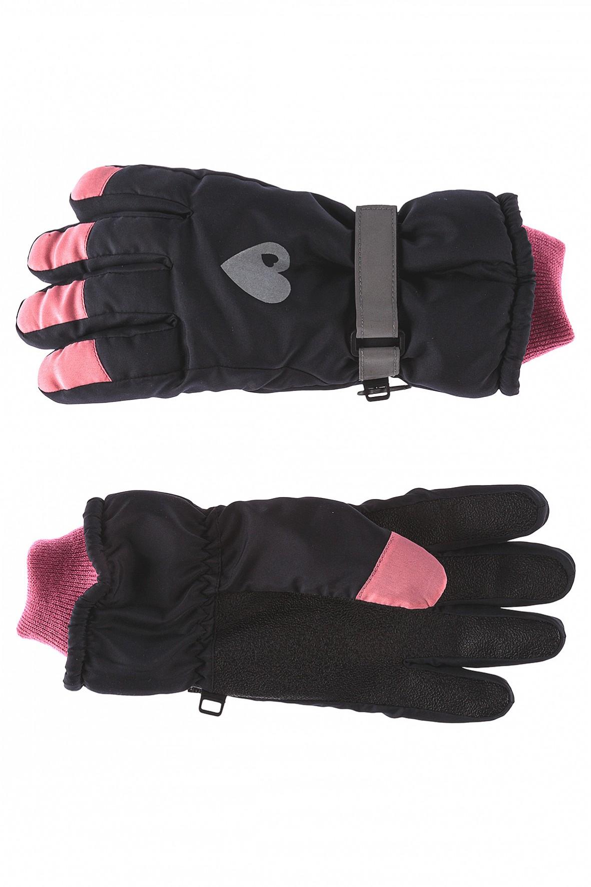 Rękawiczki dziewczęce narciarskie z odblaskami