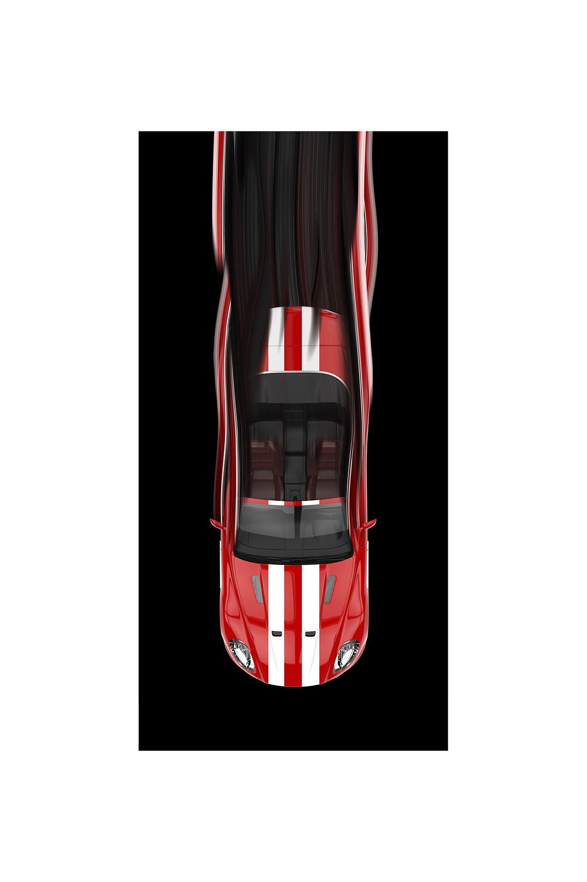 Ręcznik kąpielowy bawełniany Czerwony samochód 70x140 cm