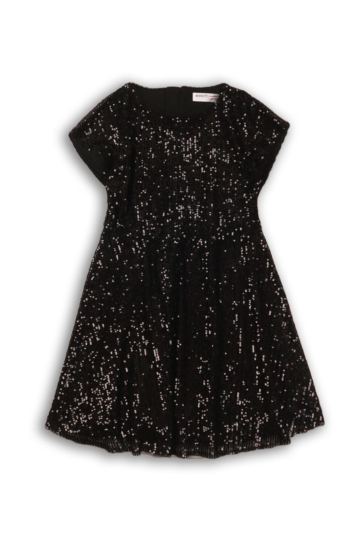 Sukienka dziewczęca rozkloszowana z cekinami