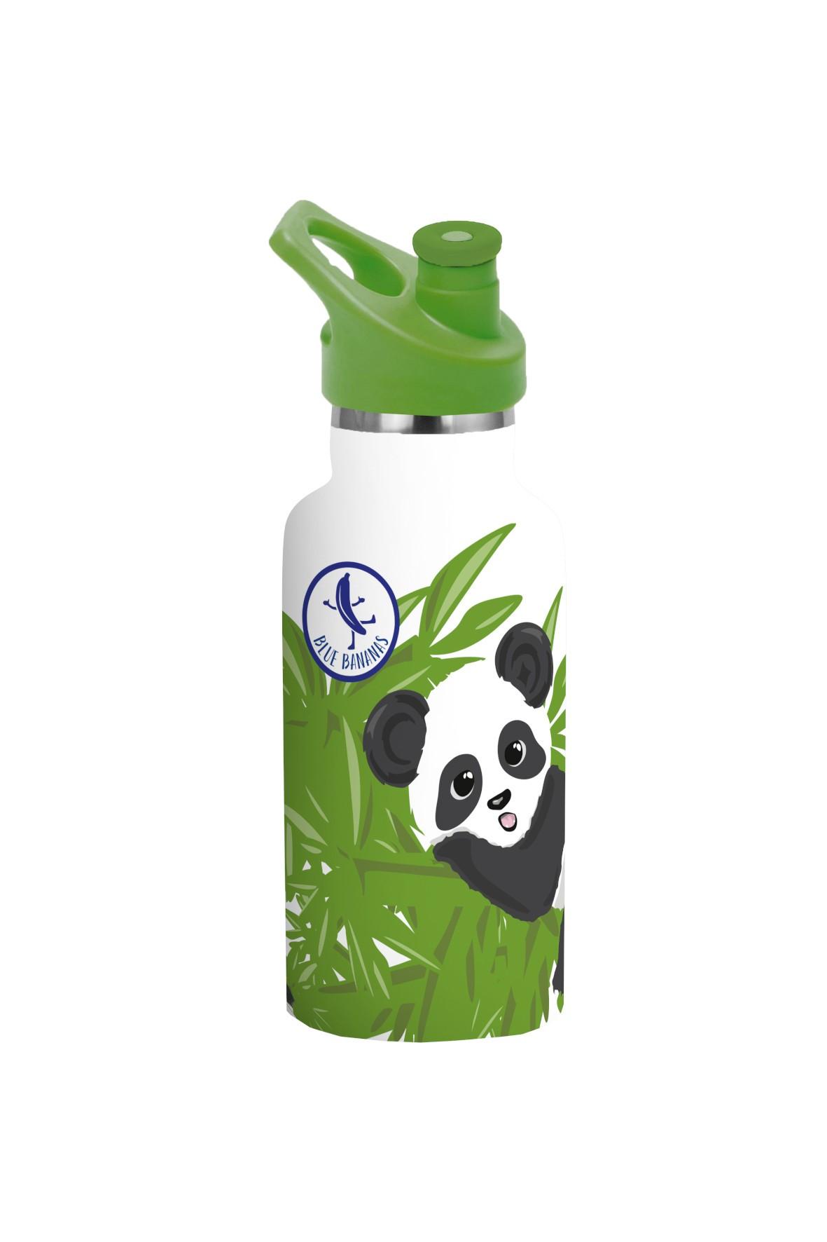 Butelka ze stali nierdzewnej- bidon Panda 350ml