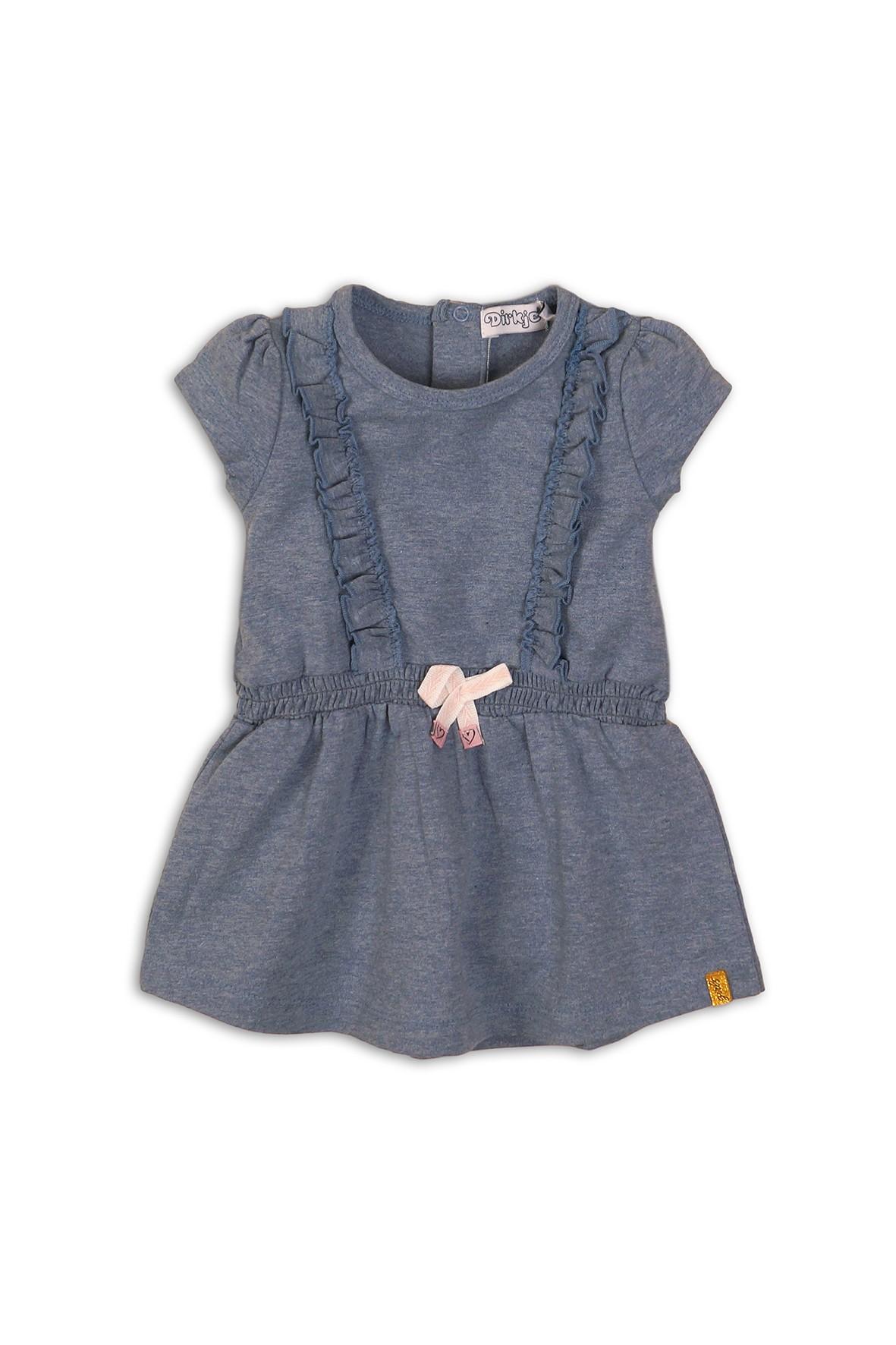 Sukienka niemowlęca niebieska- dzianinowa