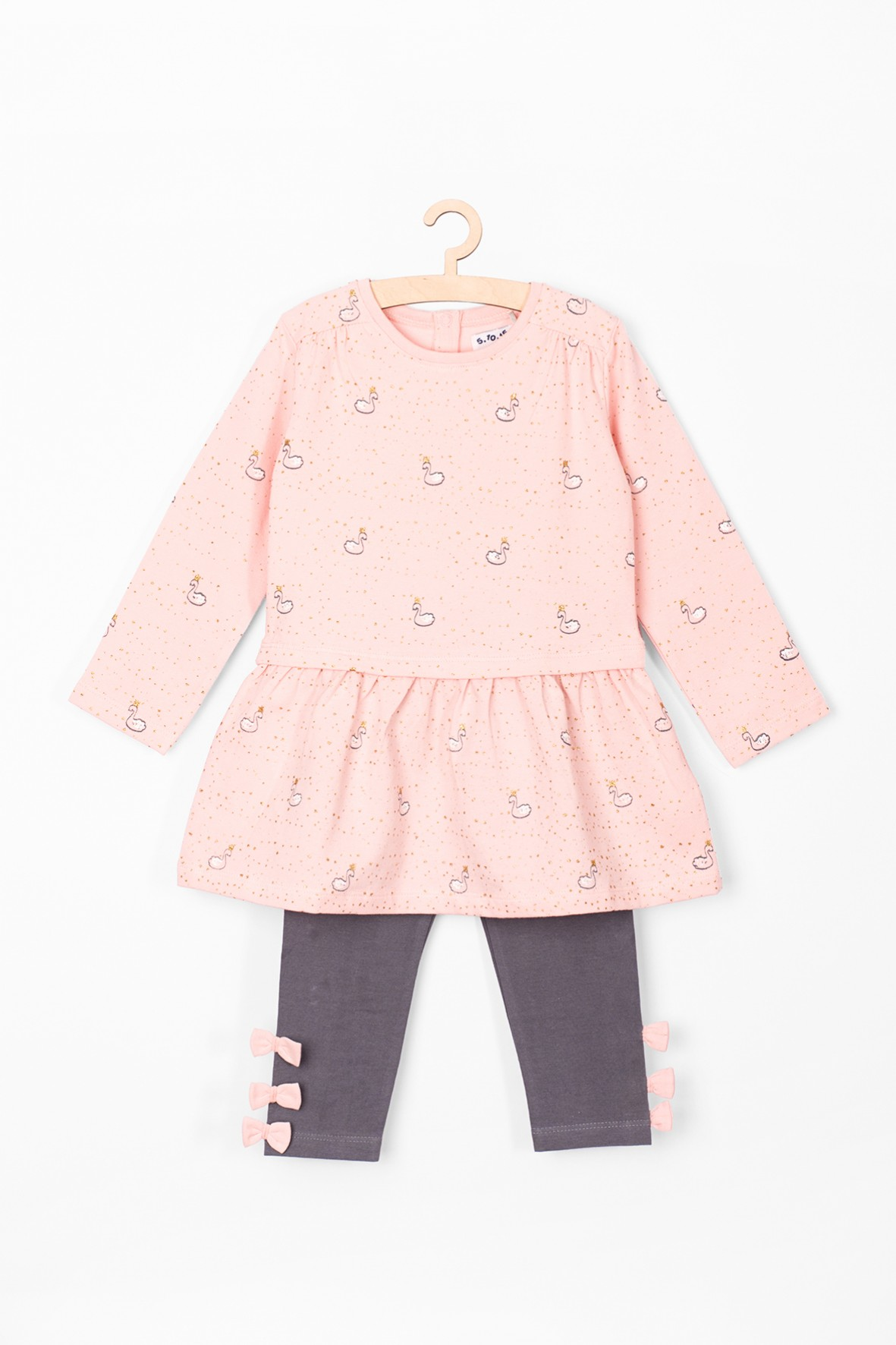 Komplet ubrań dla niemowlaka-  tunika i leginsy