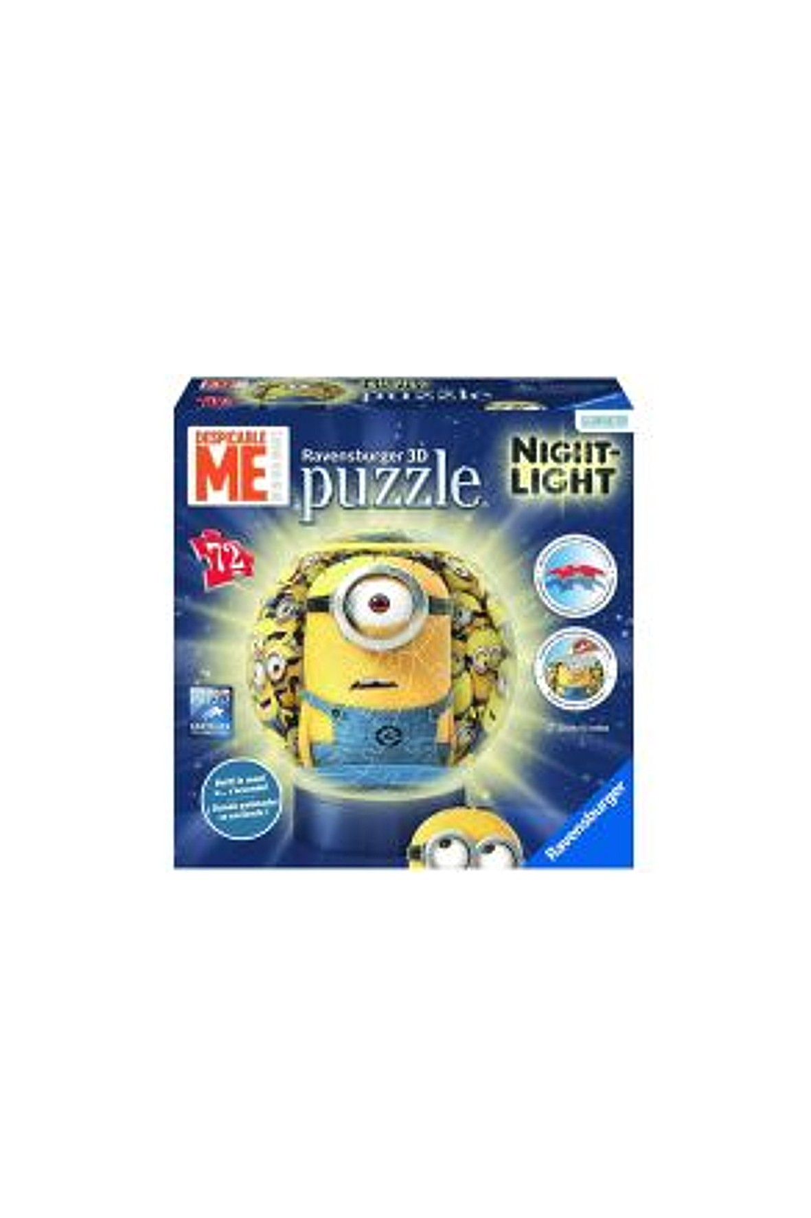 Puzzle Mininki kuliste 72 el Edycja Nocna- z lampką nocną