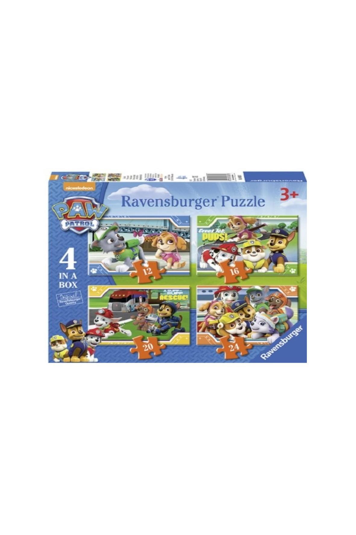 Puzzle Psi Patrol - 4W1 12/16/20/24 elementów 3+