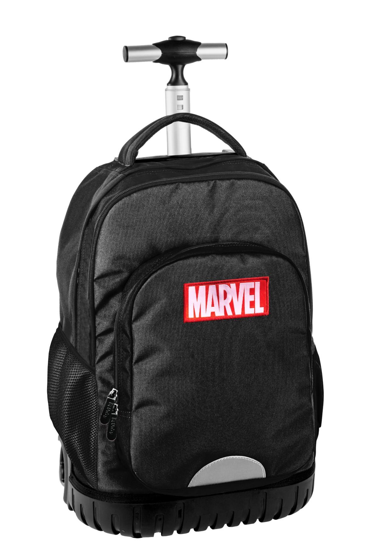 Plecak na kółkach Marvel - czarny