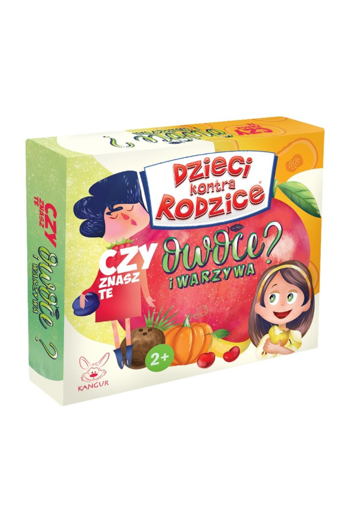 Gra Dzieci kontra Rodzice.Czy znasz te owoce i warzywa wiek 2+