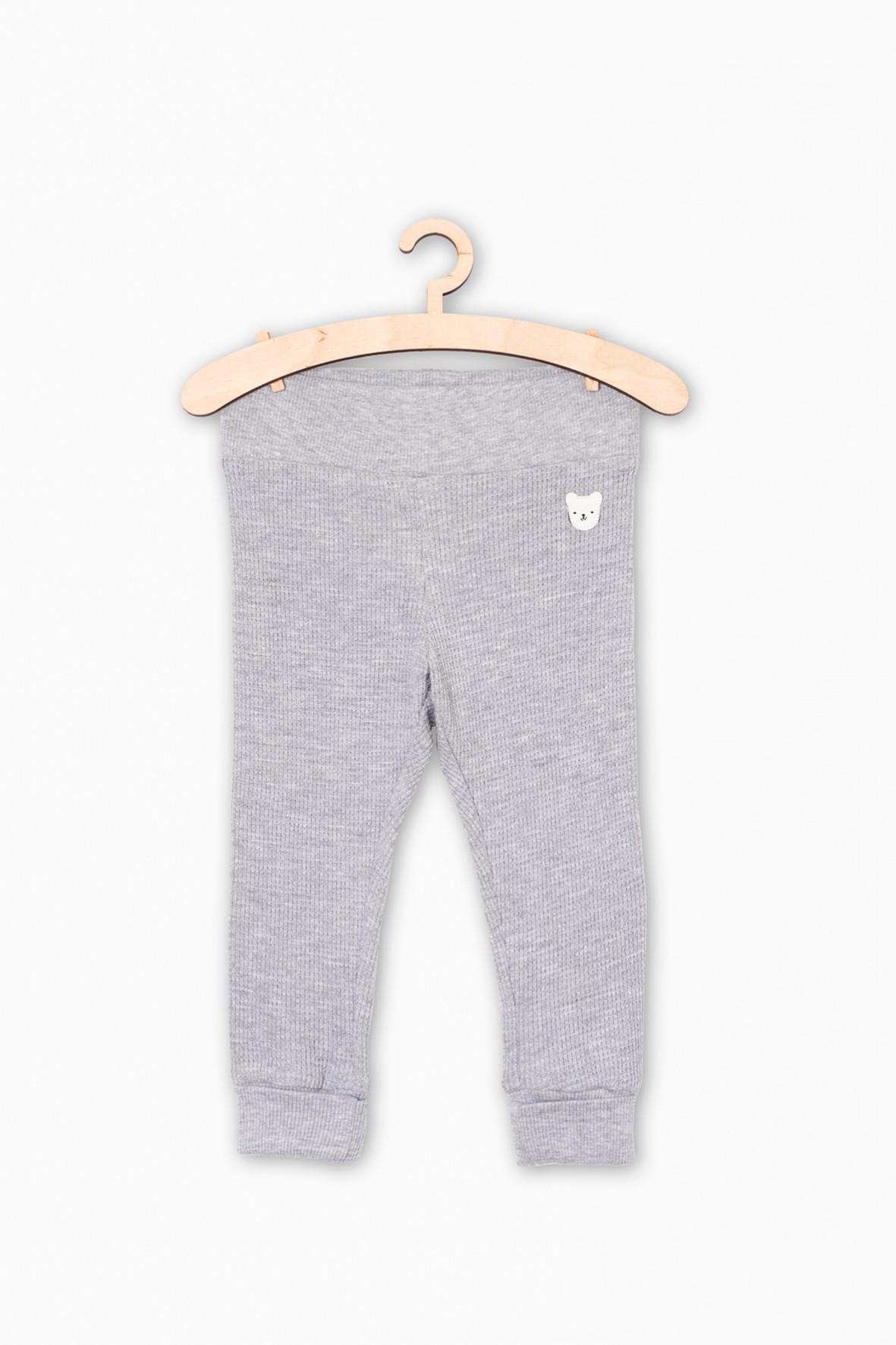 Szare dresowe spodnie dla niemowlaka