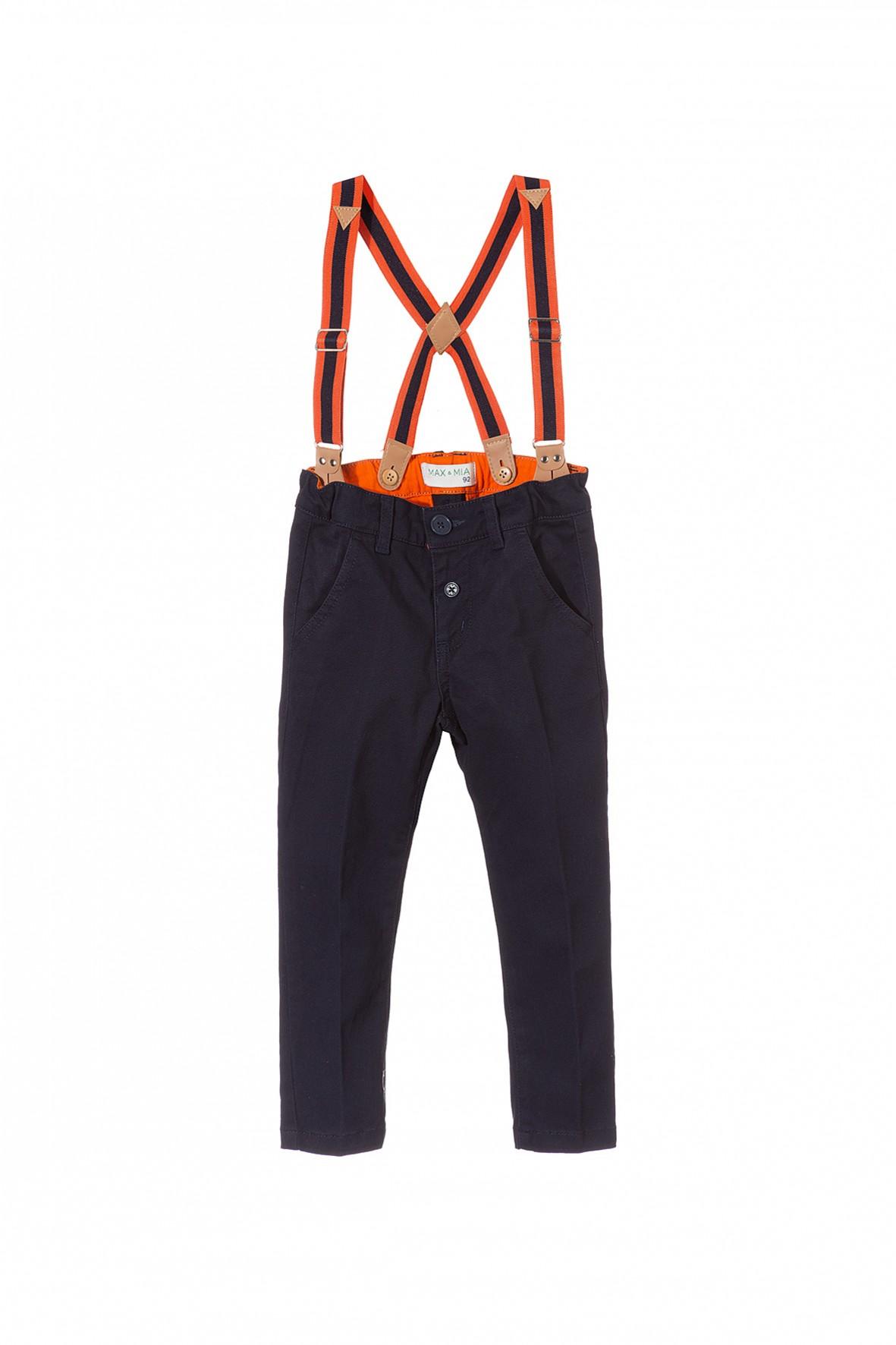 Spodnie chłopięce z szelkami 1L3512