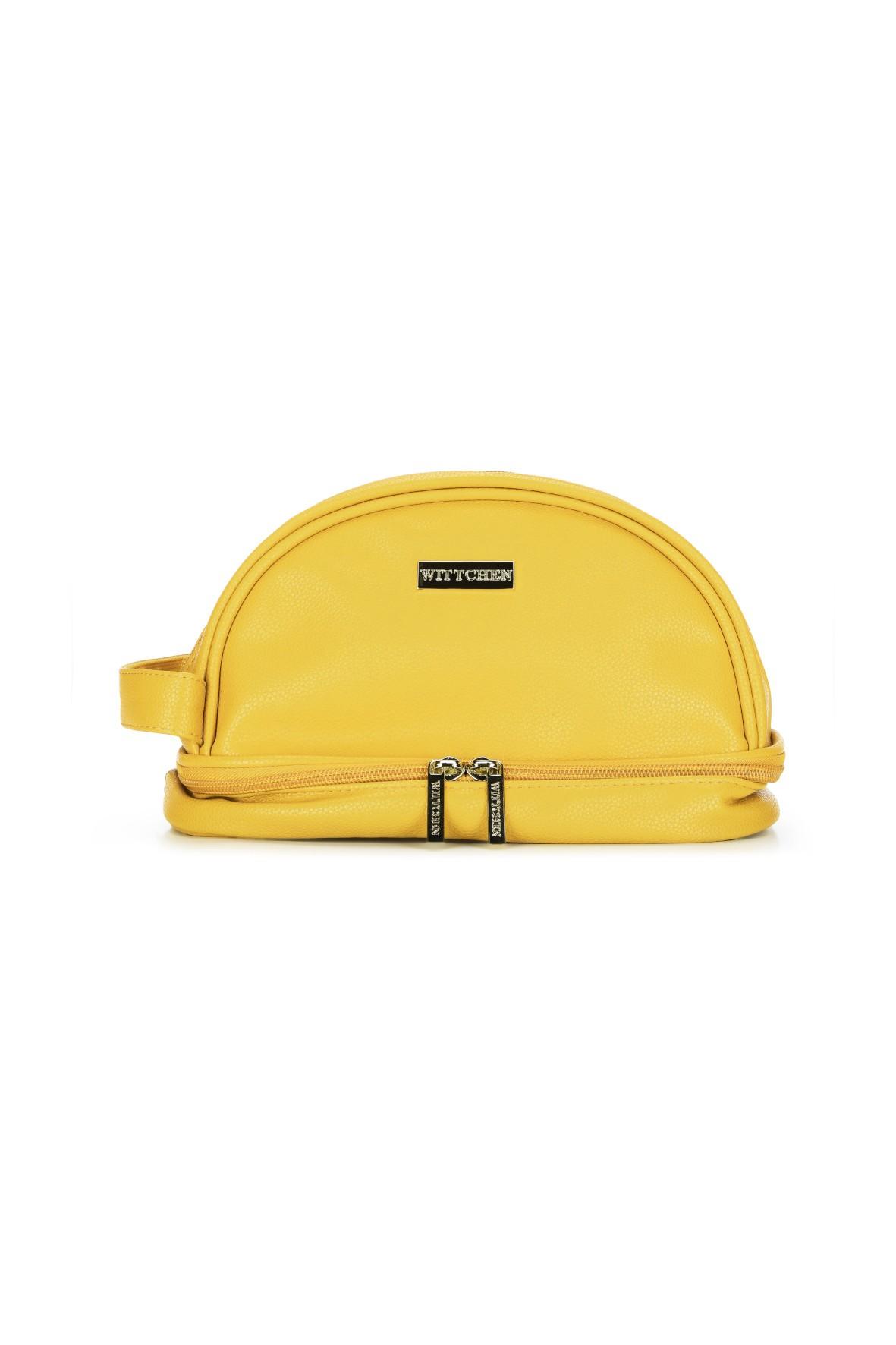 Wittchen kosmetyczka damska żółta dwie komory