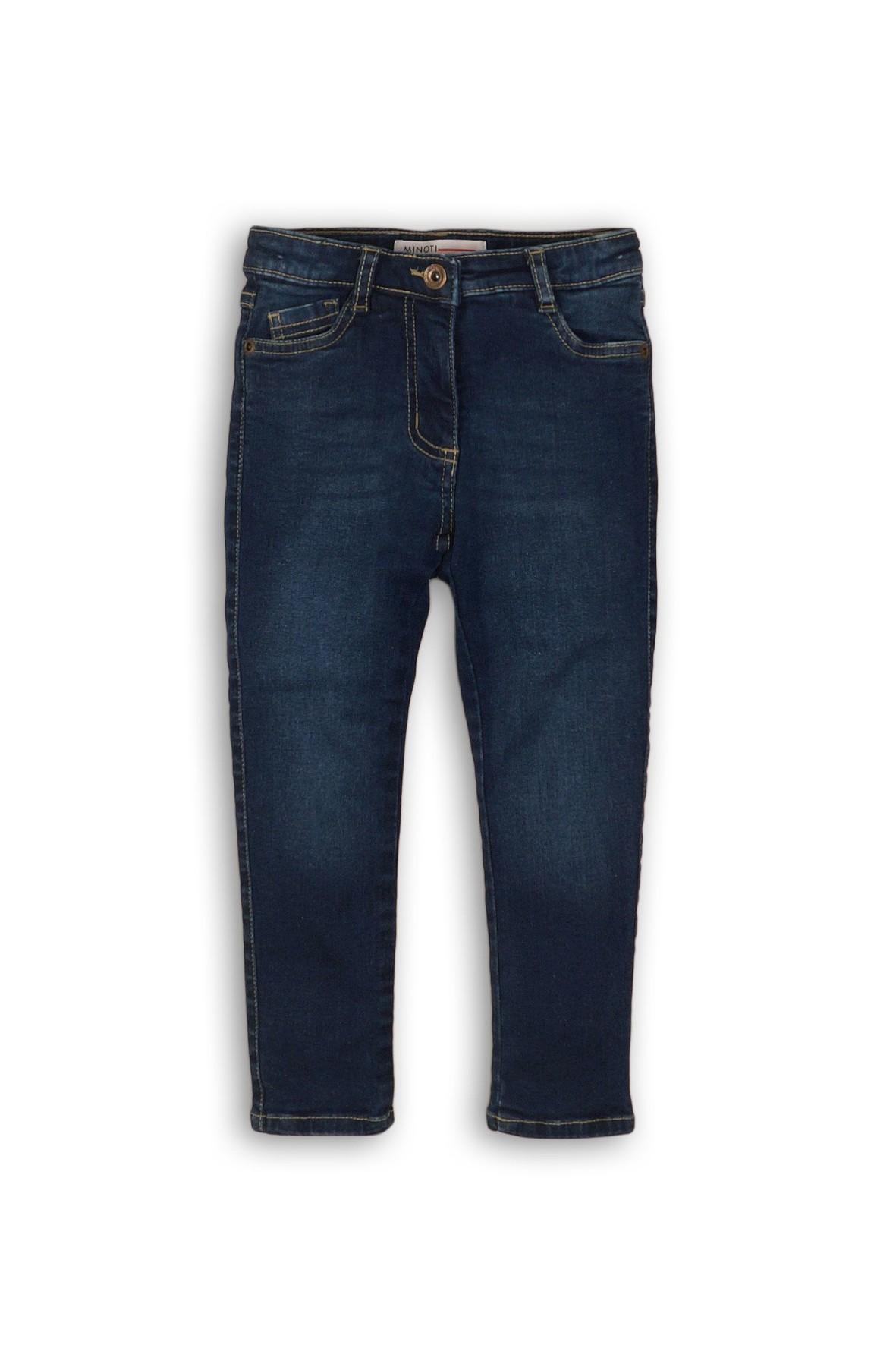 Spodnie dziewczęce jeansowe granatowe- klasyczne rozm 92/98