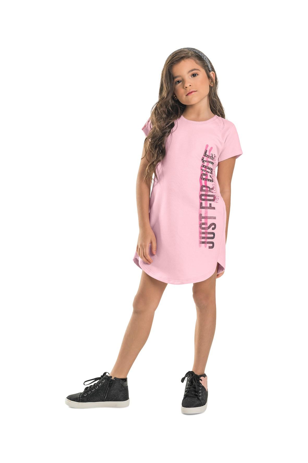 Sukienka dziewczęca w sportowym stylu- różowa