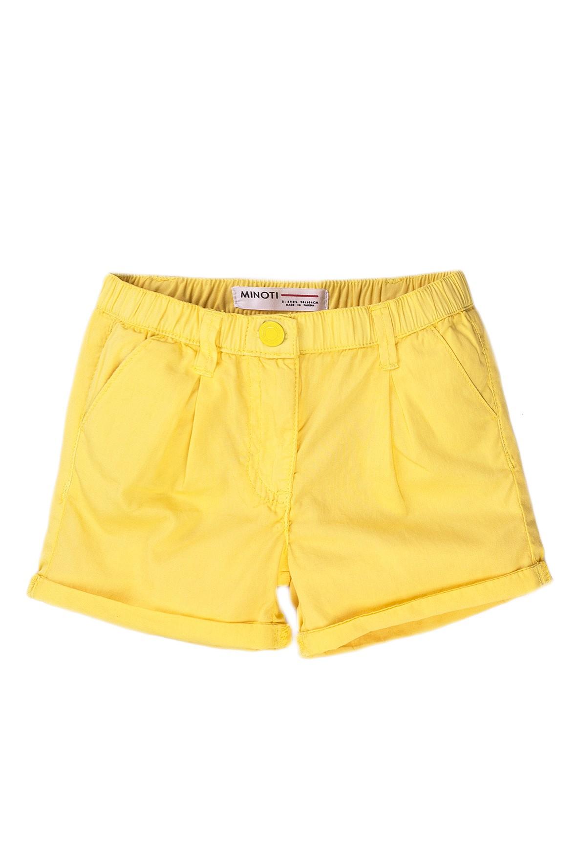 Bawełniane szorty dziewczęce żółte