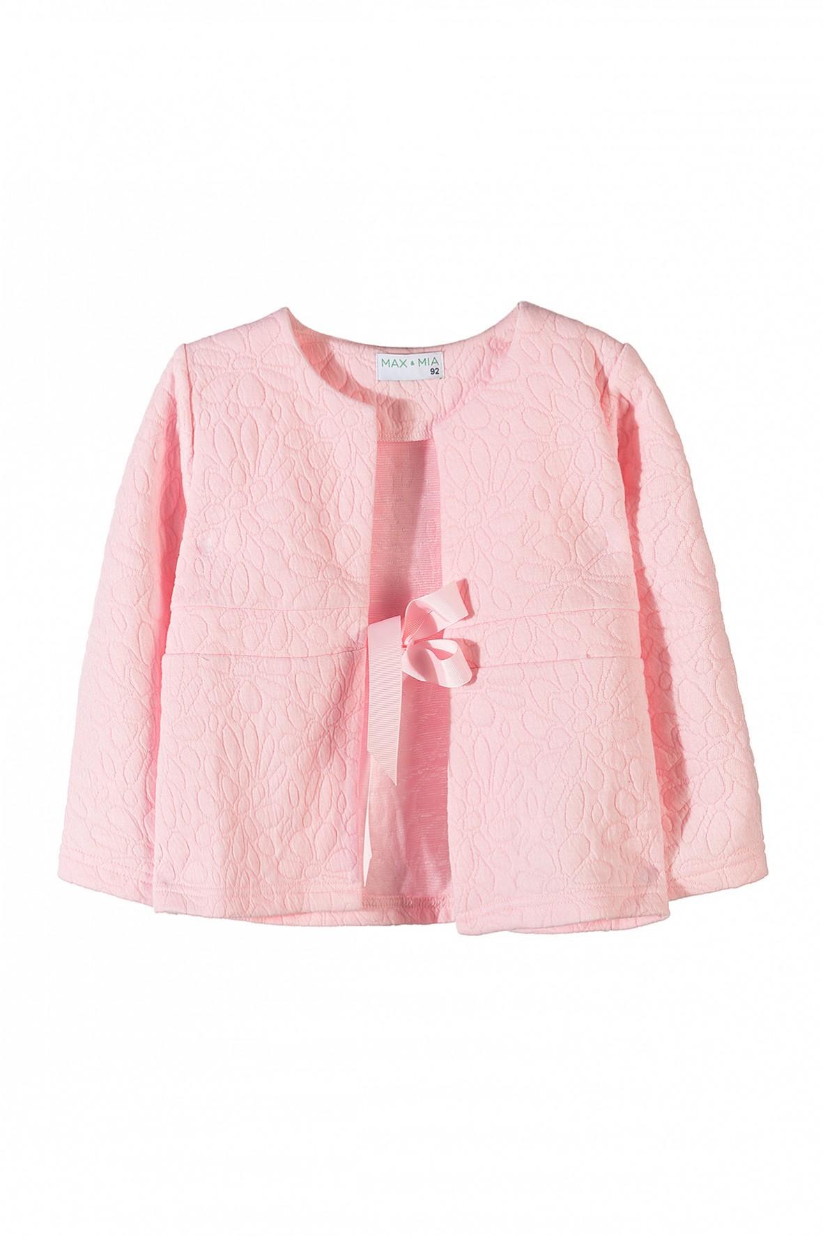 Elegancka marynarka dziewczęca w kolorze różowym