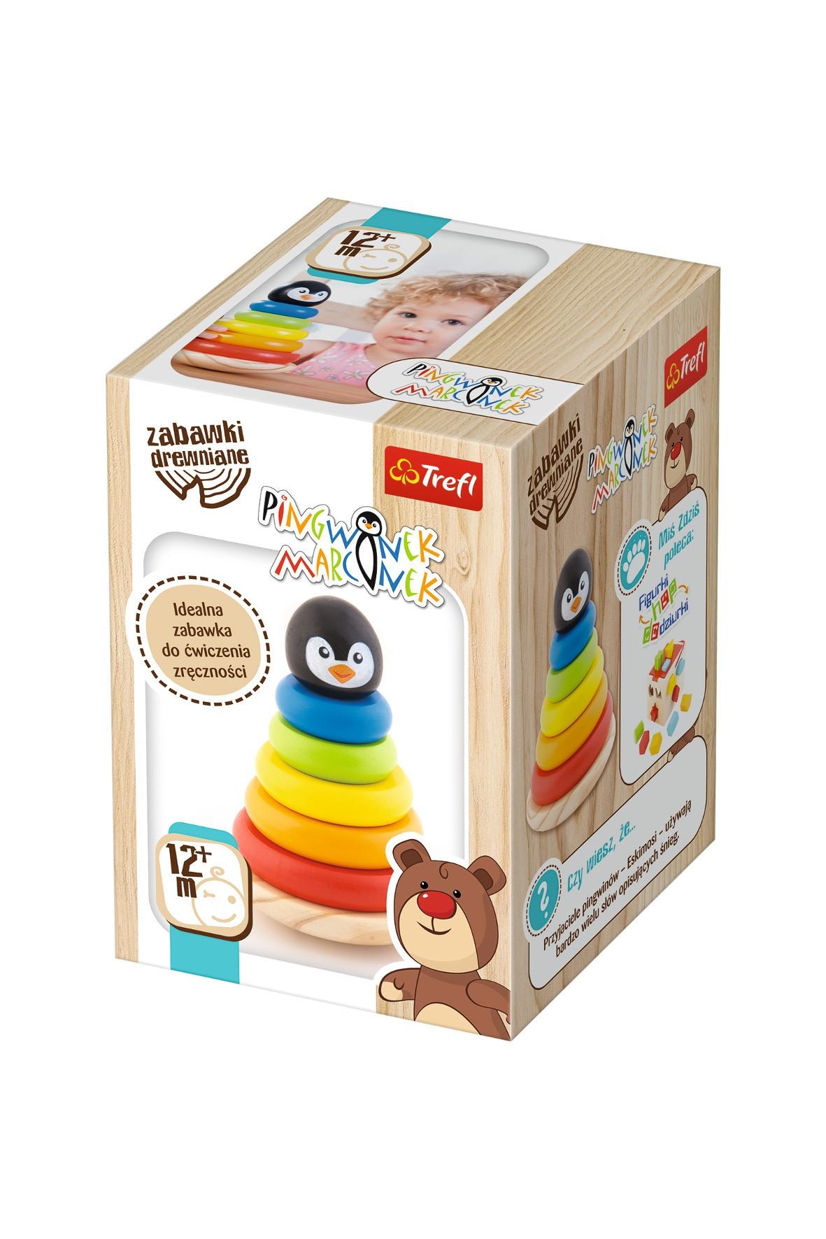 Pingwinek Marcinek- Zabawka drewniana sorter