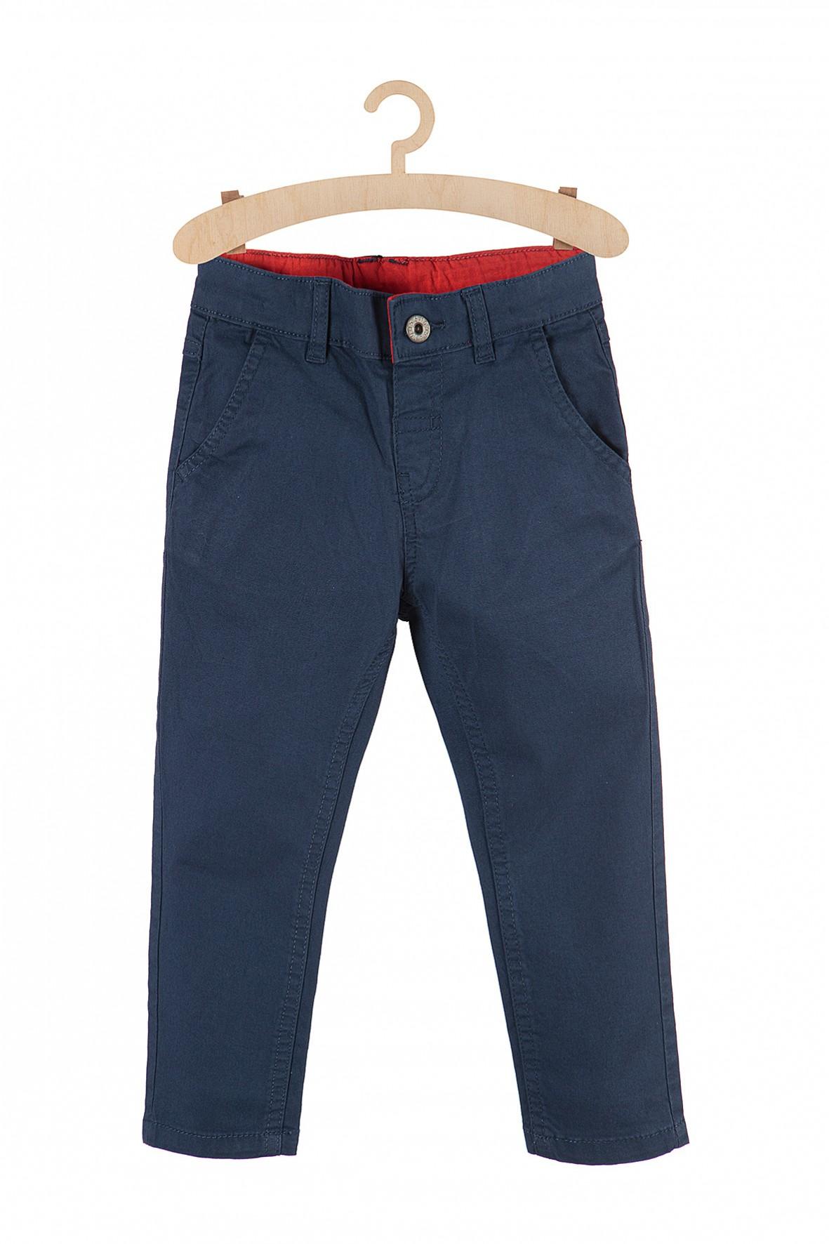 Spodnie chłopięce materiałowe granatowe