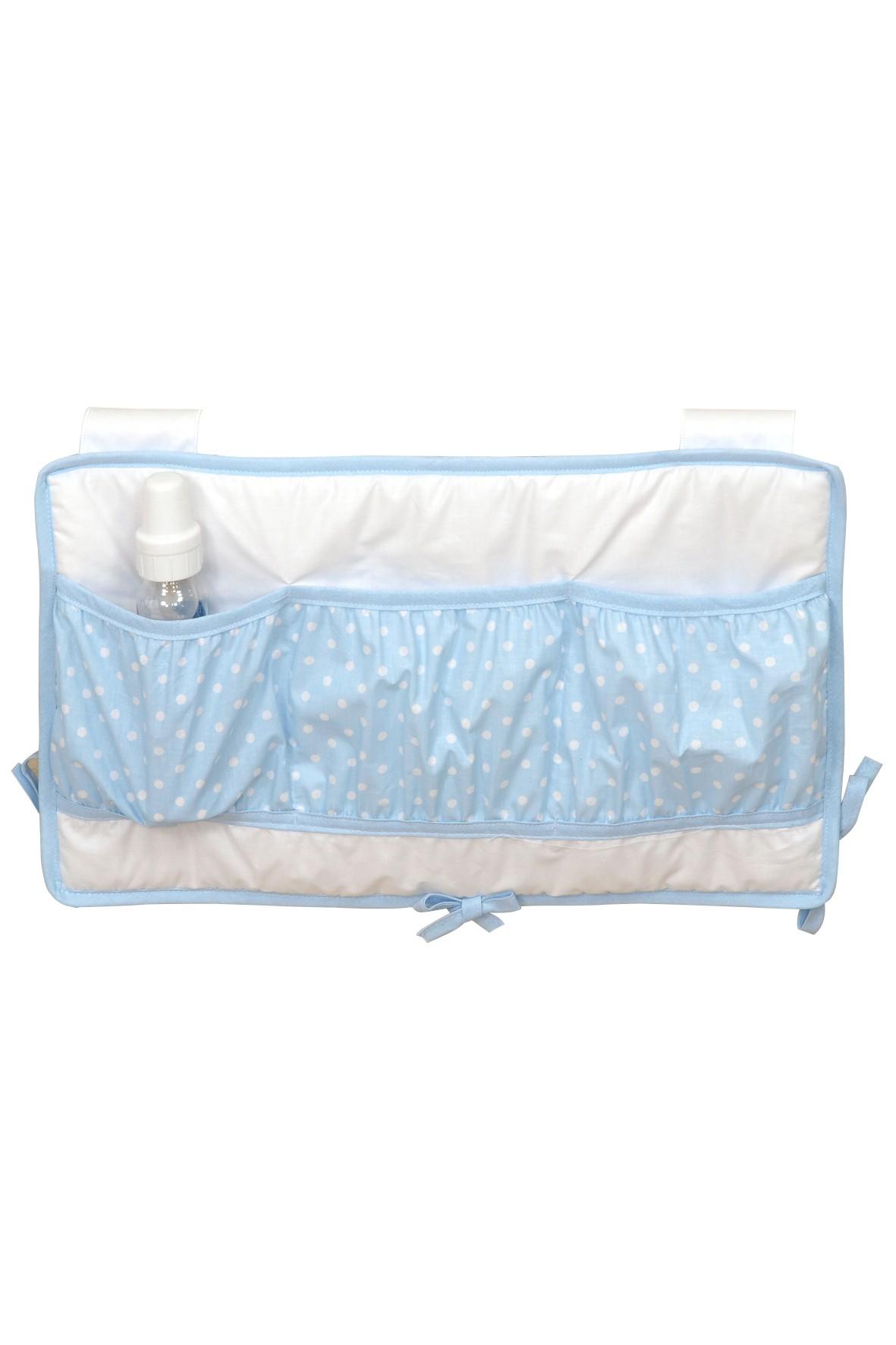 Przybornik na łóżeczko Amy Maxi- niebieski