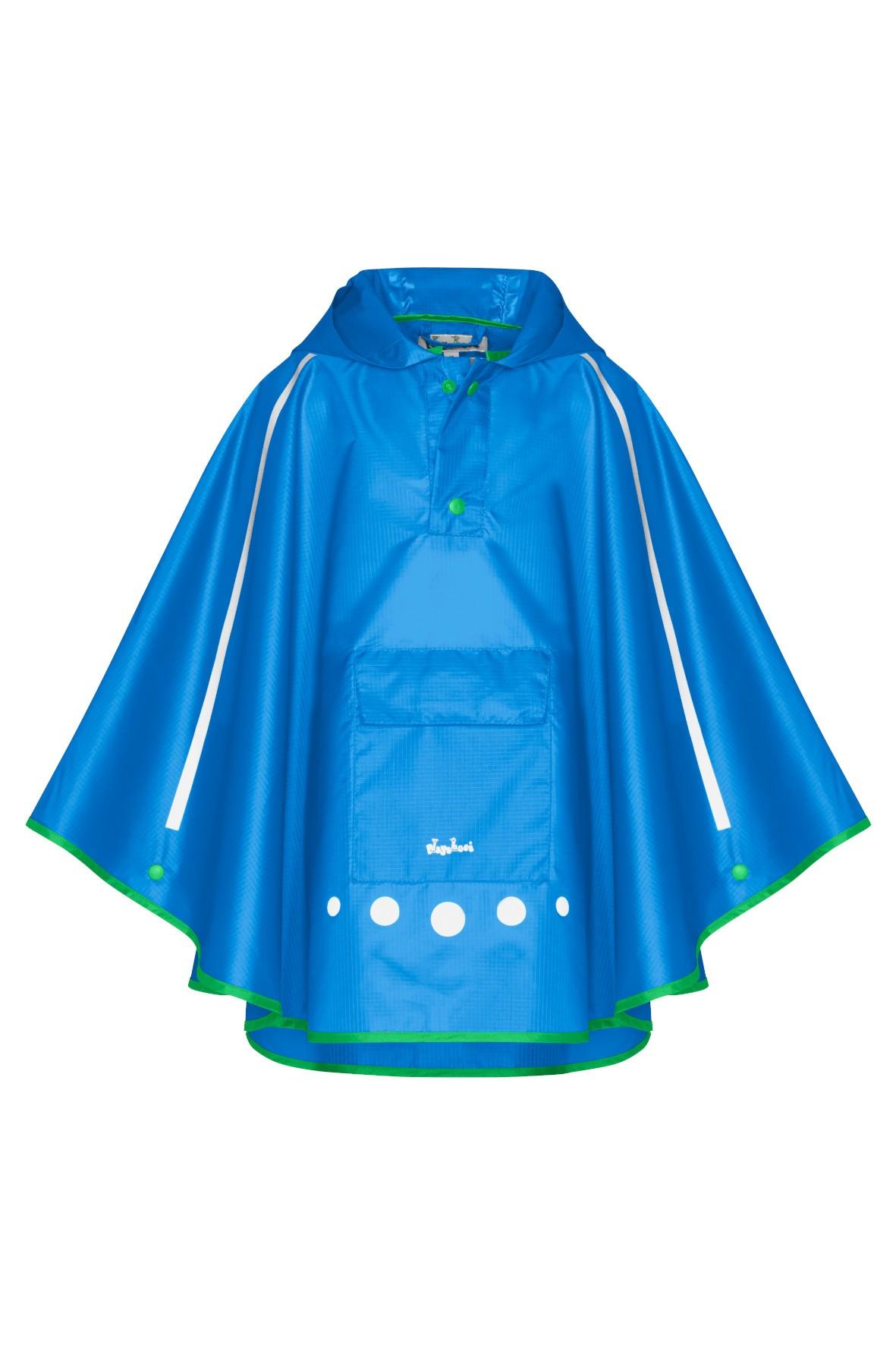 Poncho przeciwdeszczowe składane do torebki niebieski