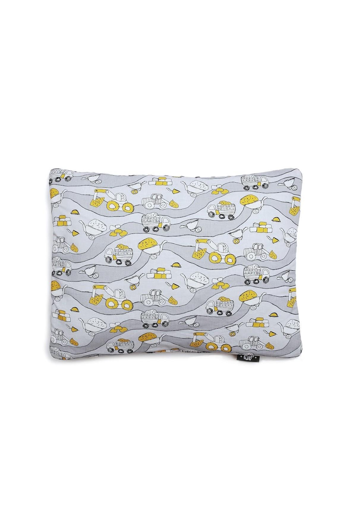 Poduszka Minky w Koparki 35x 45cm