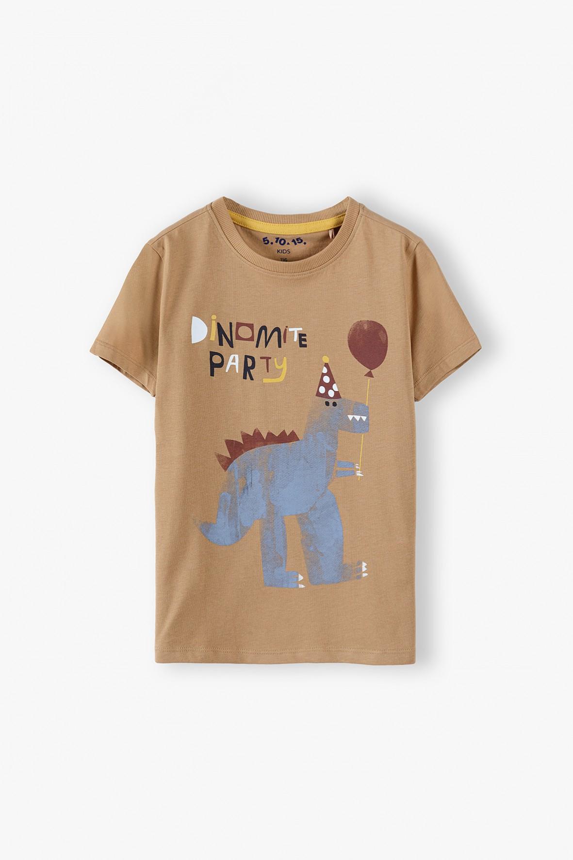 T-shirt chłopięcy bawełniany - Dino