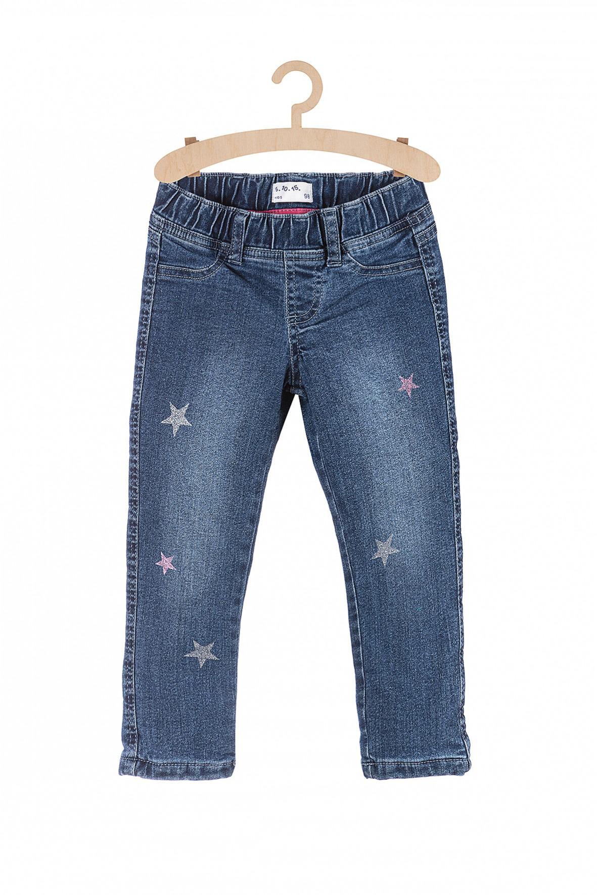 Spodnie dziewczęce jeansowe w gwiazdki