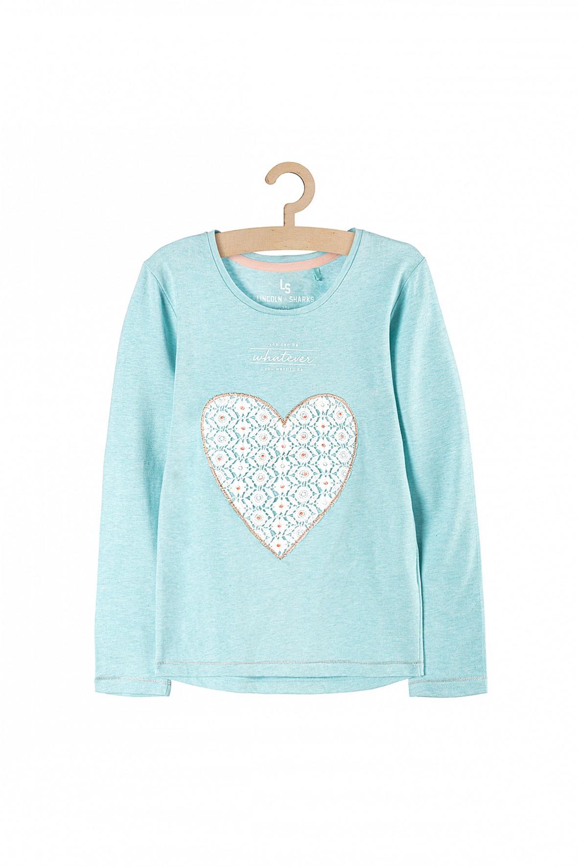 Bluzka dla dziewczynki- ażurowe serduszko