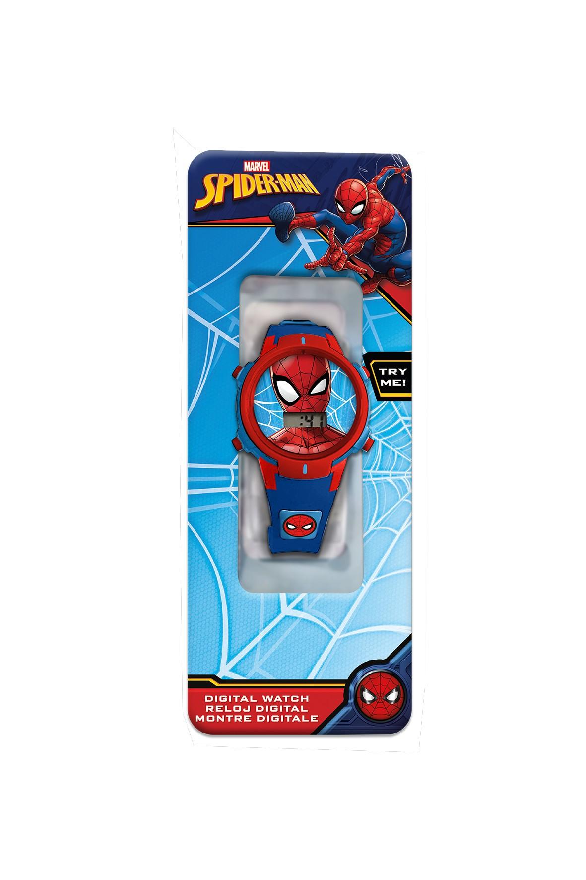 Zegarek cyfrowy ze światełkami LED Spiderman