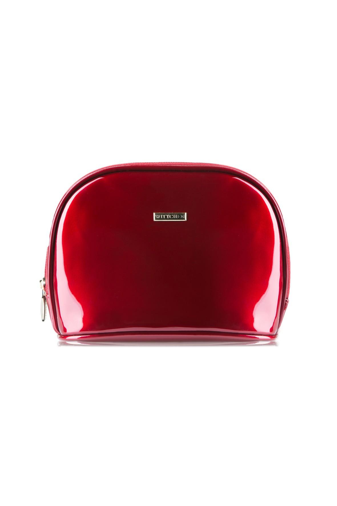 Kosmetyczka damska Wittchen- czerwona lakierowana
