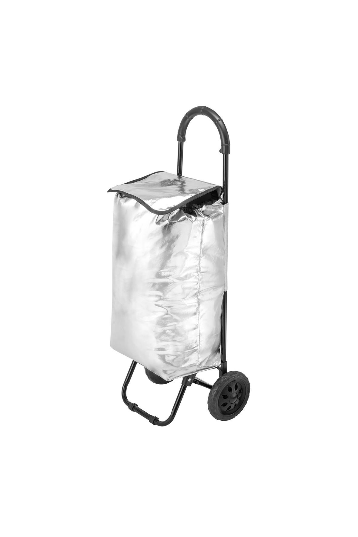 Wózek/torba za zakupy na kółkach Seria Fashion w kolorze srebrnym