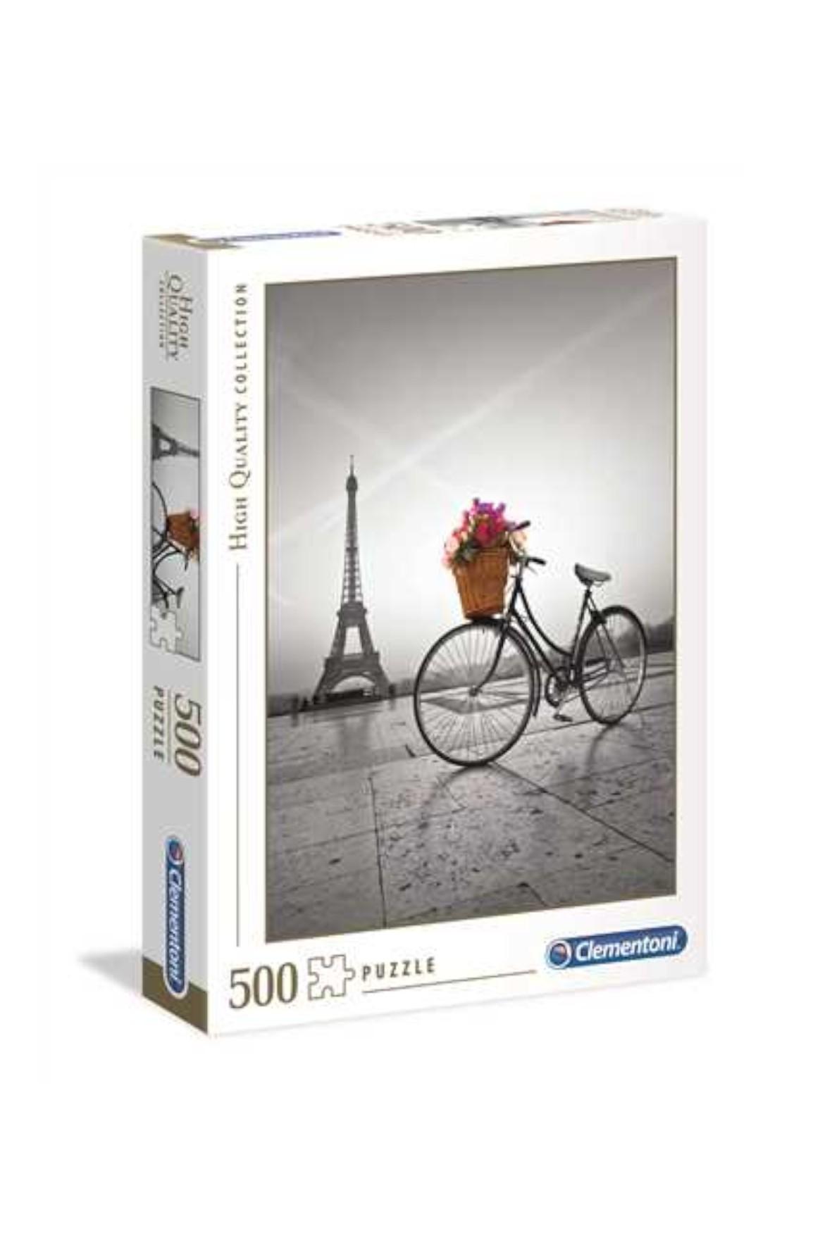 Puzzle 500 HQ Romantyczna promenada w Paryżu 35014