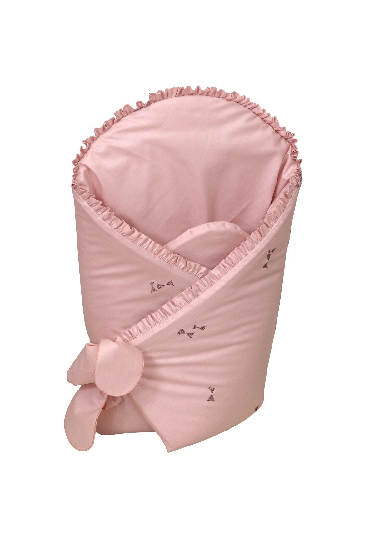 Becik usztywniany dla dziecka Amy Pure- różowy