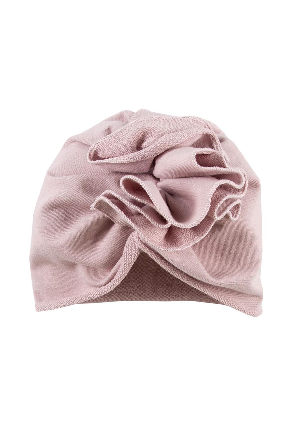 Turban niemowlęcy - czapka różowa