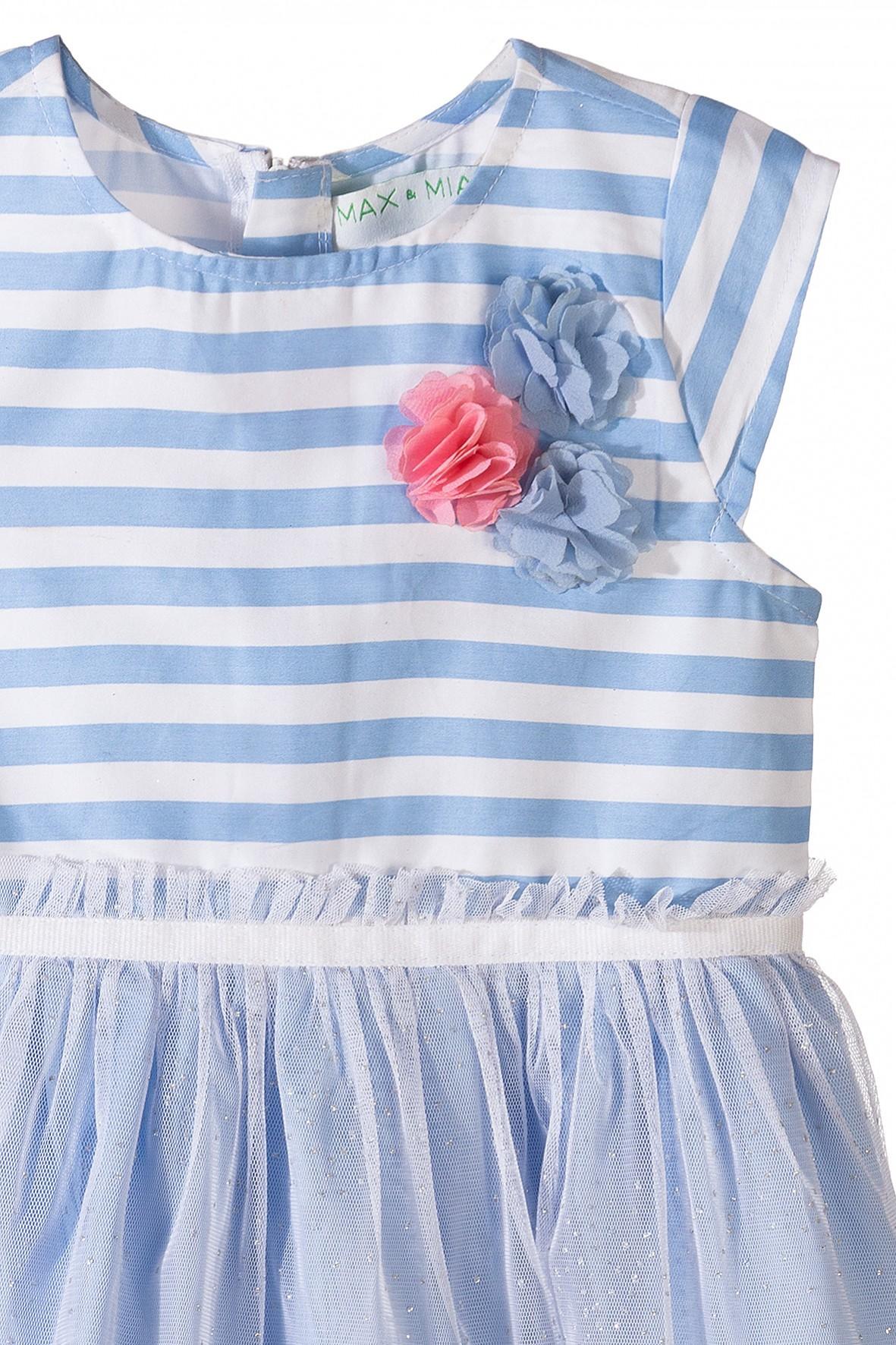 8a80350a1d Sukienka dziewczęca z tiulową falbanką · Sukienka dziewczęca z tiulową  falbanką ...