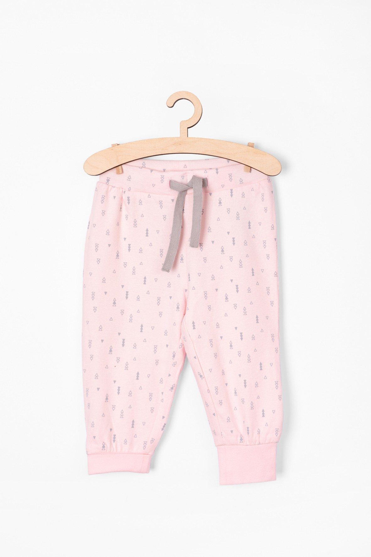 Różowe spodnie dresowe we wzorki - Organic Cotton