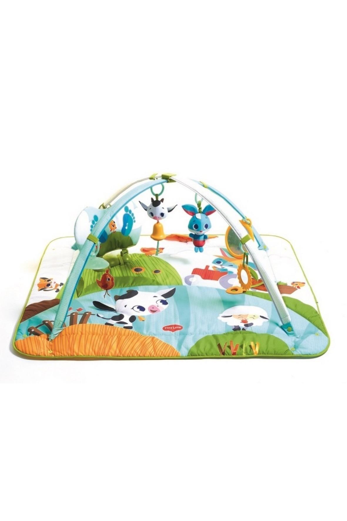 Gimnastyka dla bobasa z pałąkami Kick&Play - Farma 0msc+