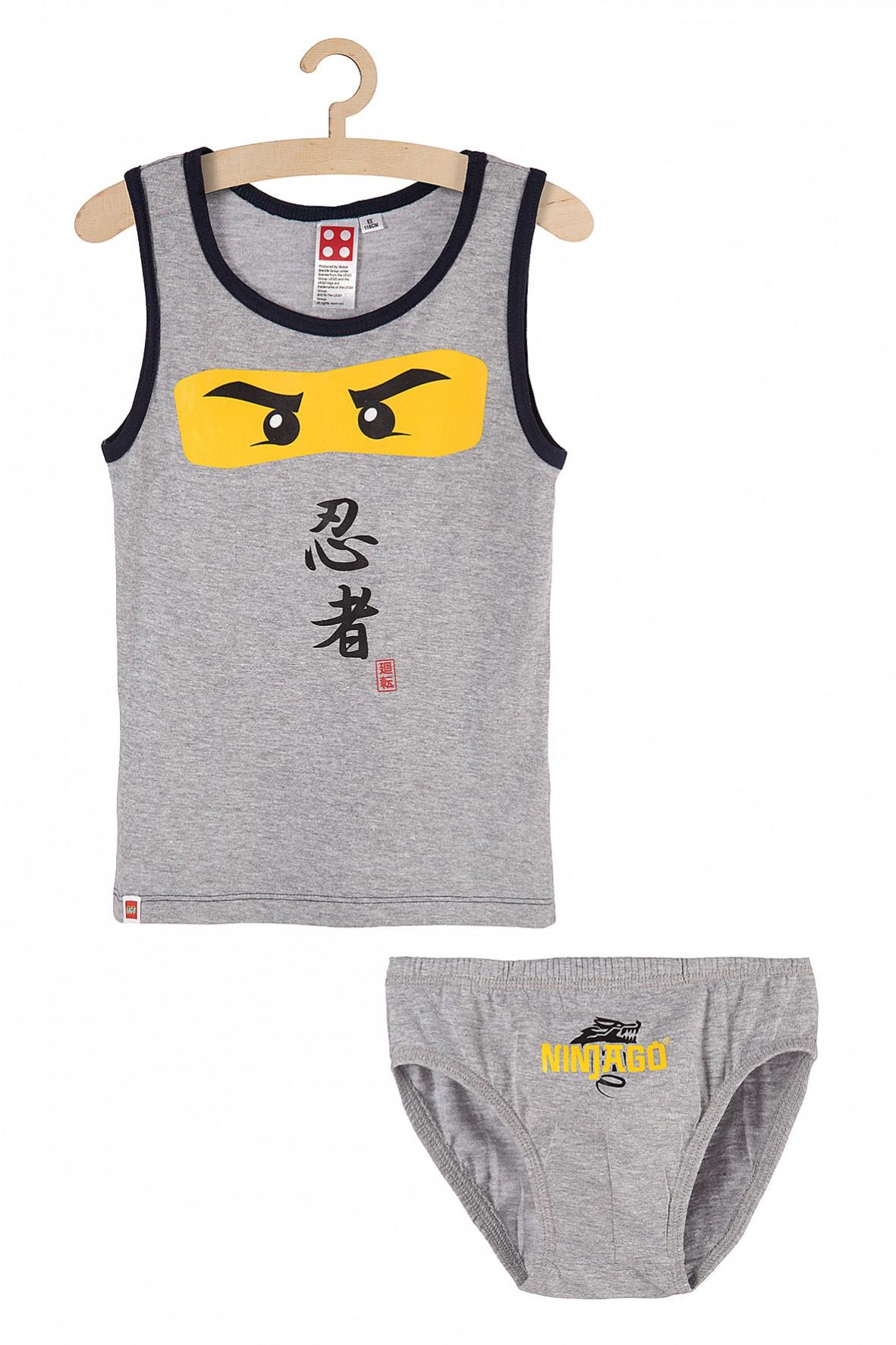 Chłopięcy komplet bieliźniany majtki i koszulka na ramiączkach Lego Ninjago