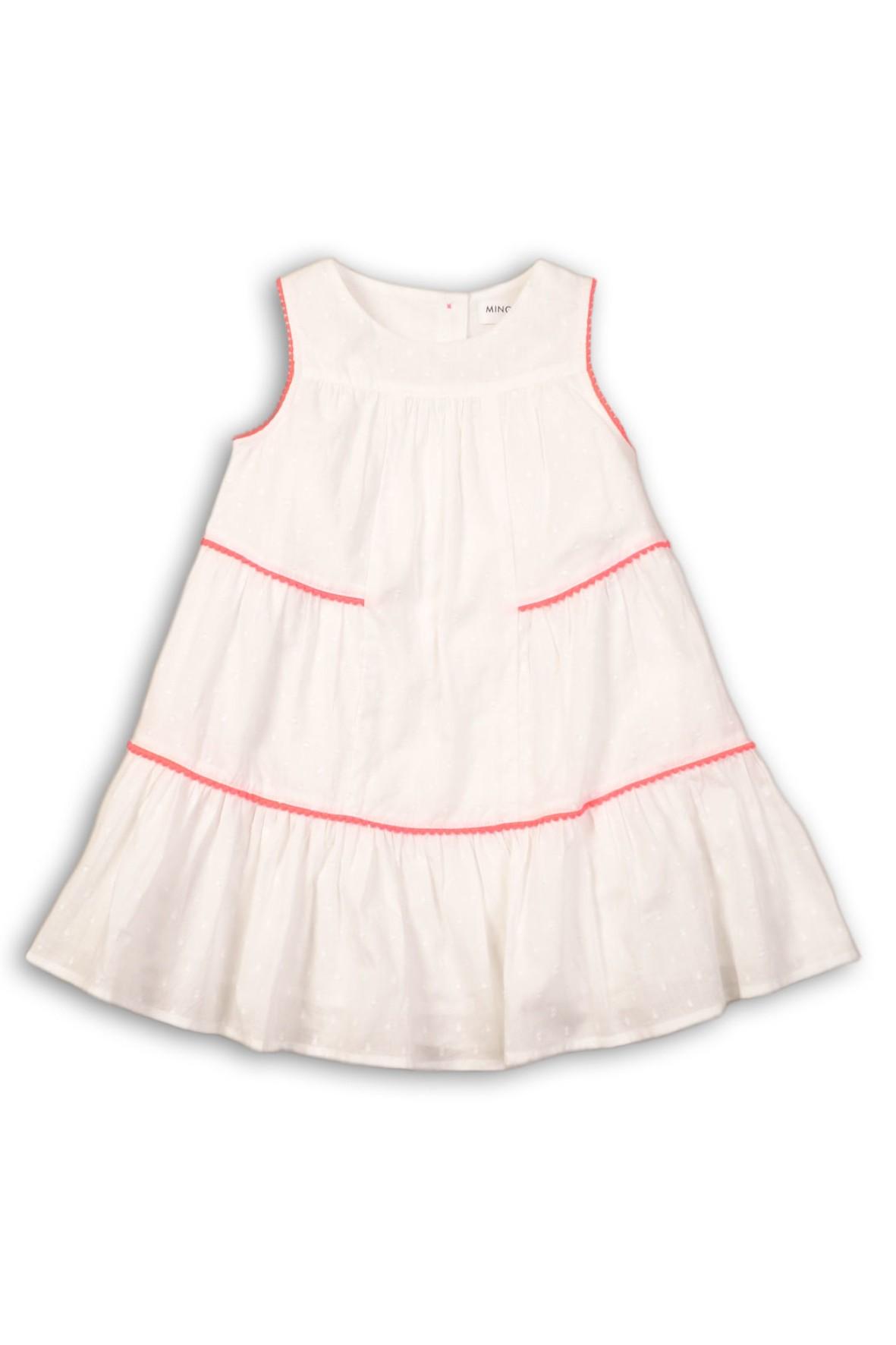 Sukienka dziewczęca biała na lato