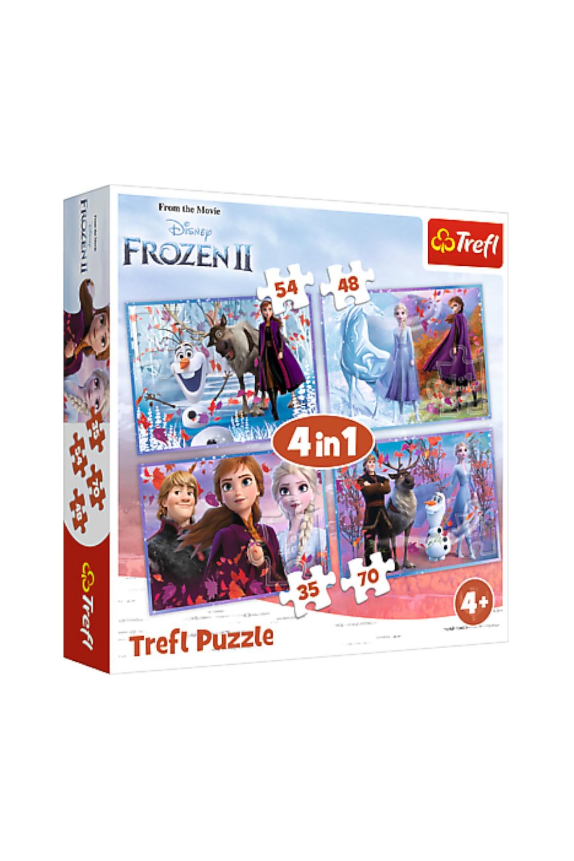 Puzzle 4w1 Podróż w nieznane Kraina Lodu 2