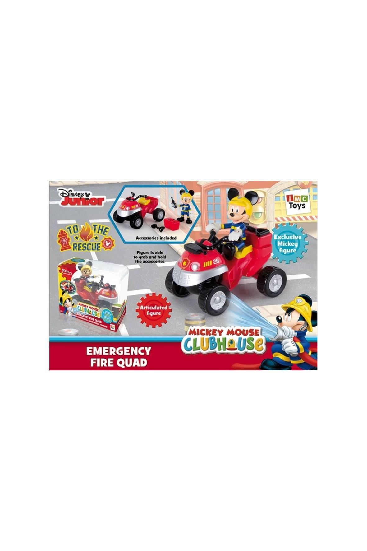 Myszka Miki straż pożarna z quadem