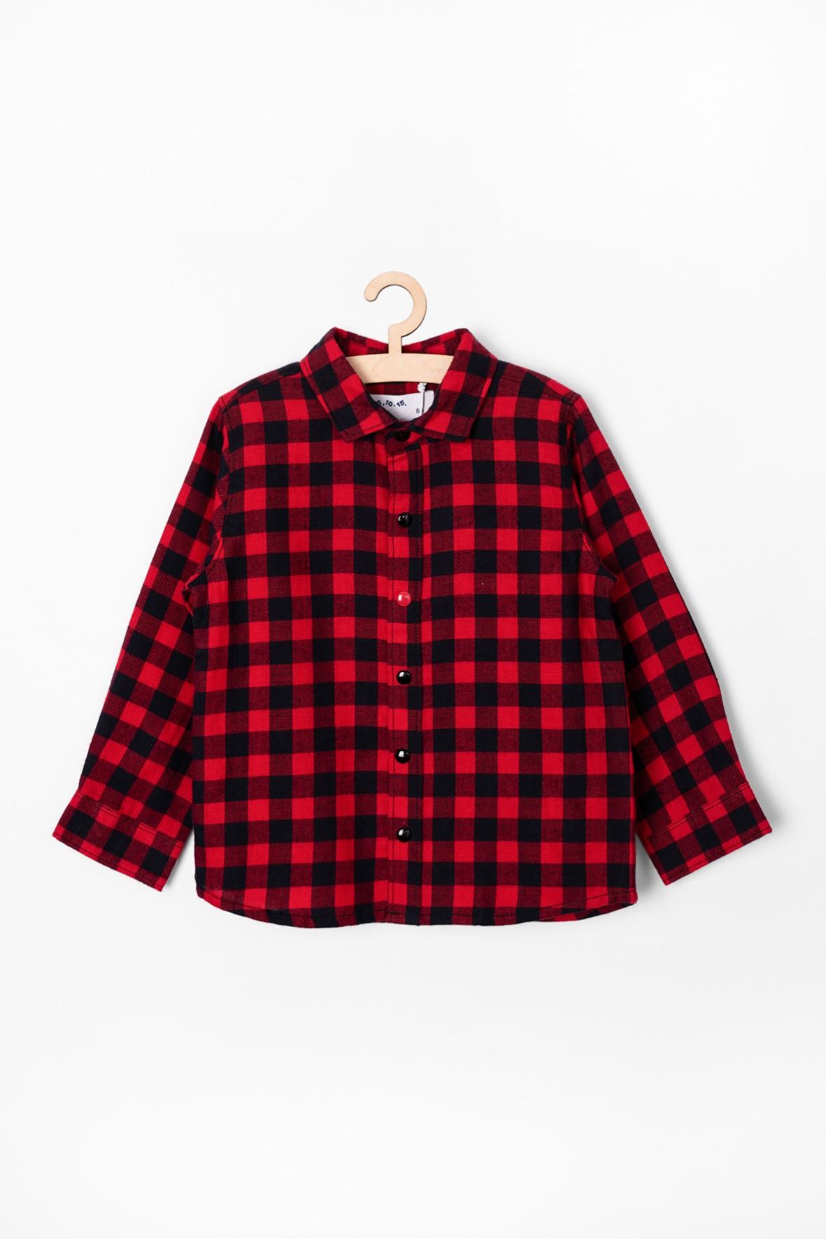 Koszula  niemowlęca w czarno - czerwoną kratkę