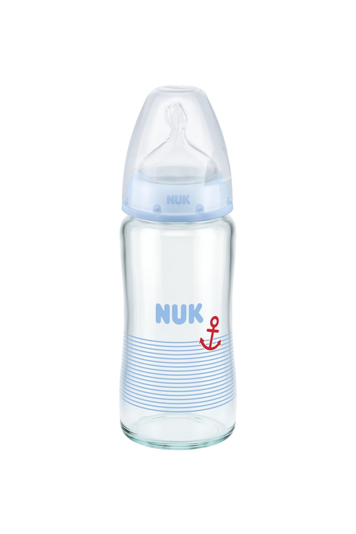 Butelka szklana 240ml, 0-6msc Nuk