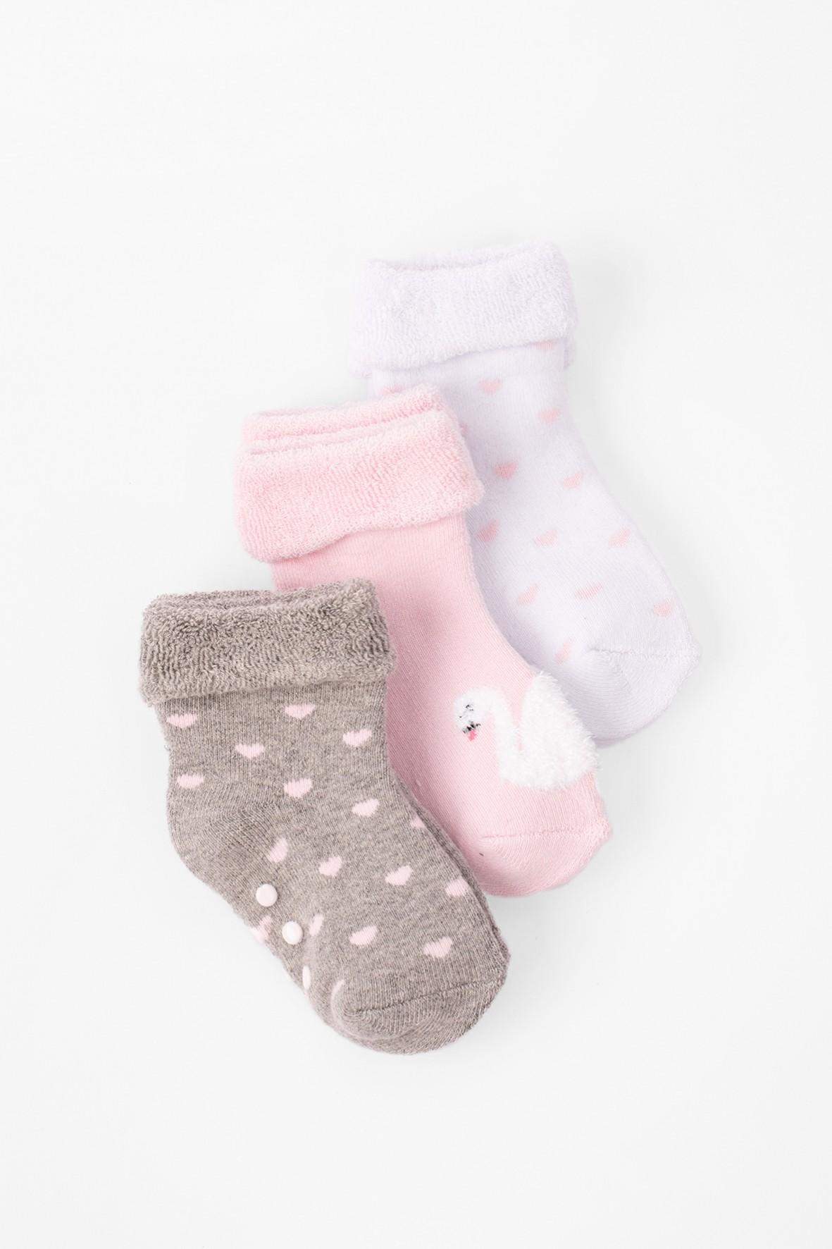 Skarpetki niemowlęce frotte- bezuciskowe