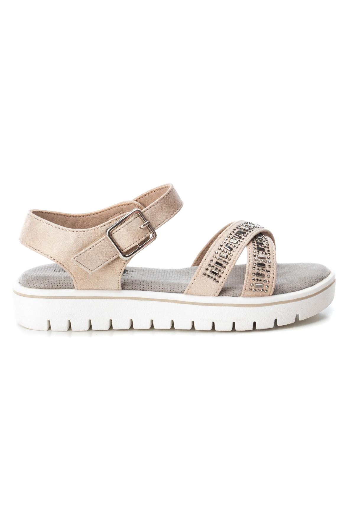 Sandały dziewczęce beżowe