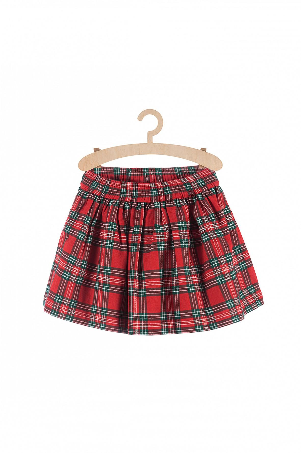 Spódnica dziewczęca w kratę