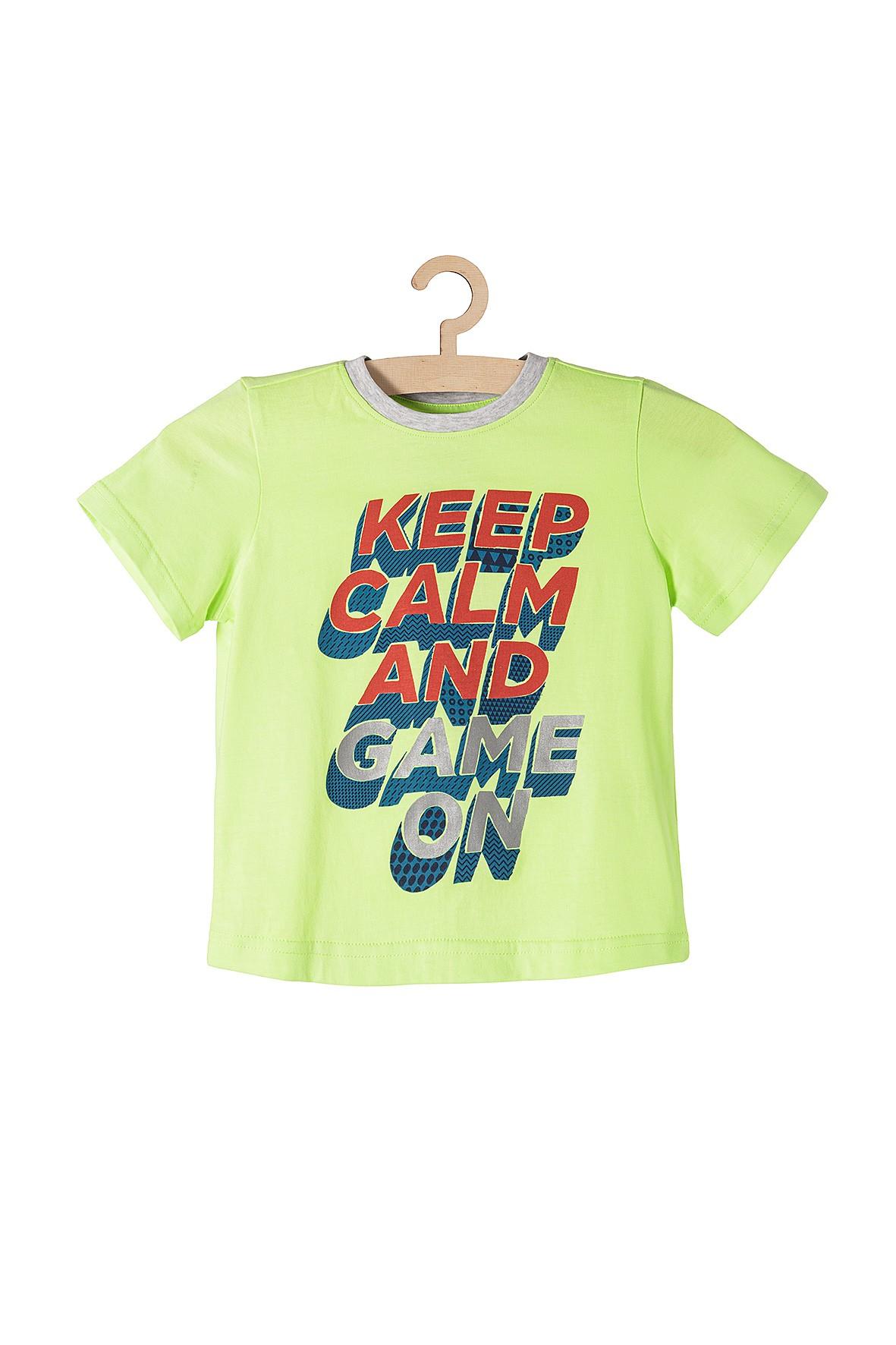 Koszulka chłopięca dzianinowa Keep Calm