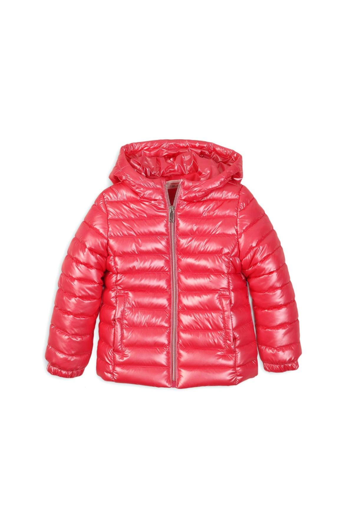 Różowa pikowana kurtka dla dziewczynki