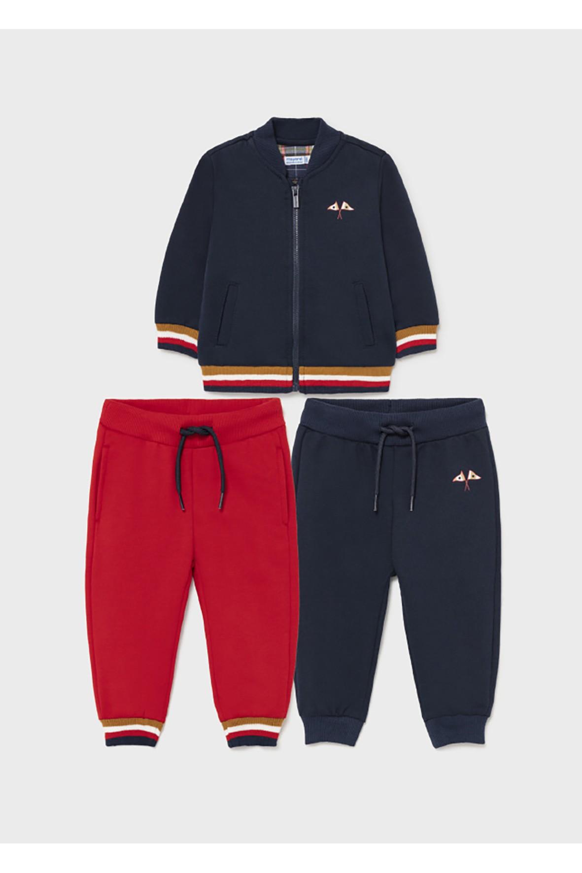 Zestaw dresowy dla chłopca - bluza z nadrukiem i 2 x spodnie dresowe